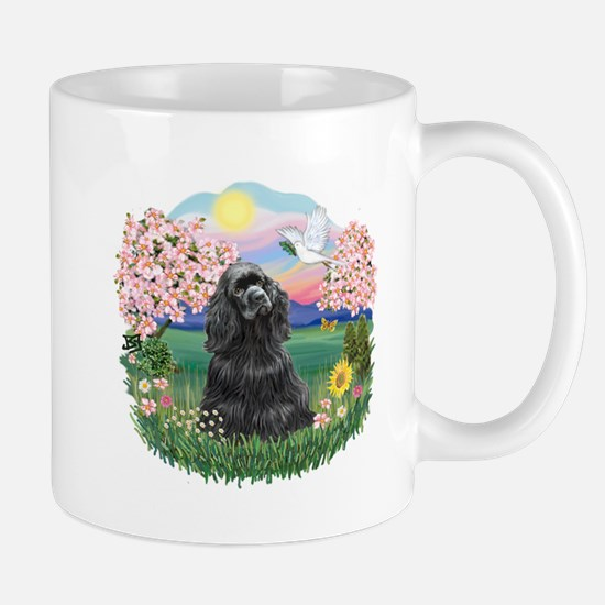 Blossoms-Black Cocker Mug
