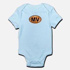 Martha's Vineyard MA - Oval Design. Infant Bodysui
