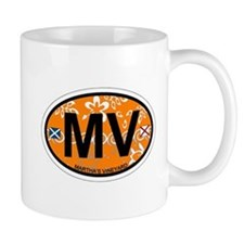 Martha's Vineyard MA - Oval Design. Mug