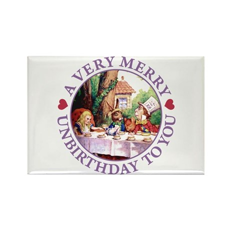 A Very Merry Unbirthday To You Rectangle Magnet