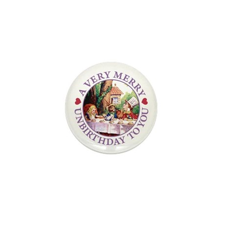 A Very Merry Unbirthday To You Mini Button (10 pac