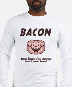 Bacon - Vegan Long Sleeve T-Shirt