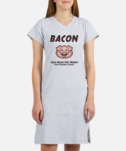 Bacon - Vegan Women's Nightshirt