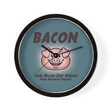 Bacon - Vegan Wall Clock