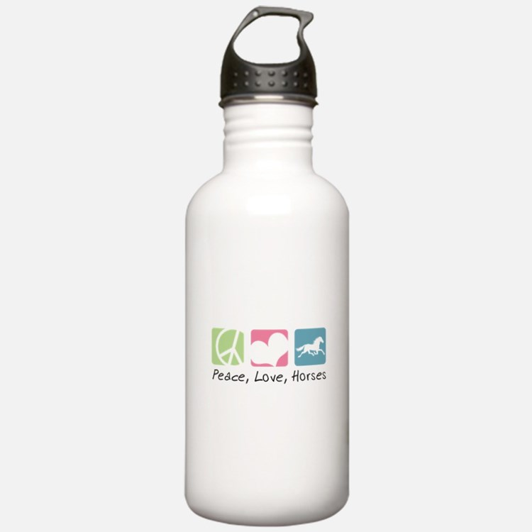 Peace, Love, Horses Water Bottle