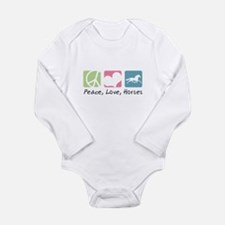 Peace, Love, Horses Long Sleeve Infant Bodysuit