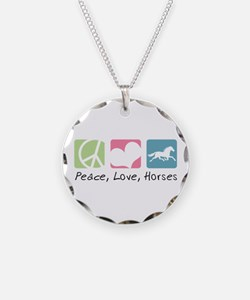 Peace, Love, Horses Necklace