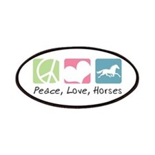 Peace, Love, Horses Patches