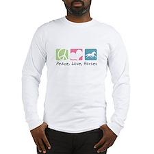 Peace, Love, Horses Long Sleeve T-Shirt
