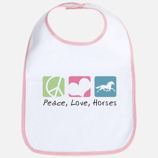 Peace, Love, Horses Bib