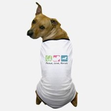 Peace, Love, Horses Dog T-Shirt
