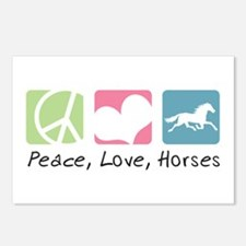 Peace, Love, Horses Postcards (Package of 8)