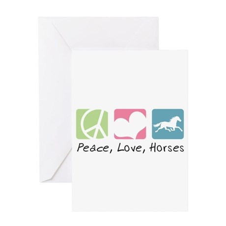 Peace, Love, Horses Greeting Card