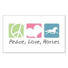 Peace, Love, Horses Decal