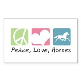 Peace love horses 10 Pack