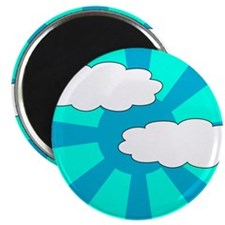 "Cloudy Blue Rays 2.25"" Magnet (10 pack)"