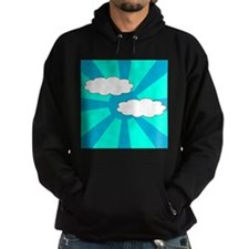 Cloudy Blue Rays Hoodie