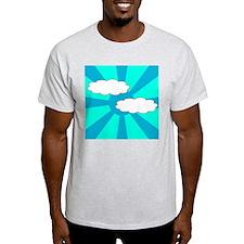 Cloudy Blue Rays T-Shirt