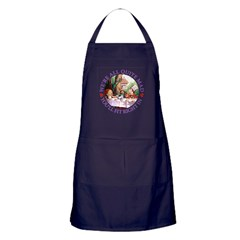 We're All Quite Mad Apron (dark)