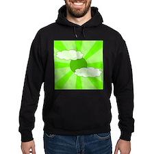 Cloudy Green Rays Hoodie