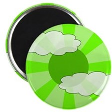 "Cloudy Green Rays 2.25"" Magnet (10 pack)"