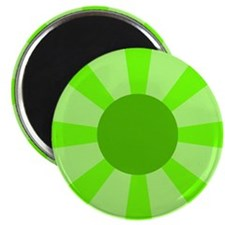 "Green Rays 2.25"" Magnet (10 pack)"