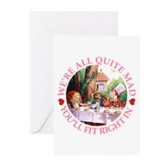 We're All Quite Mad Greeting Cards (Pk of 10)