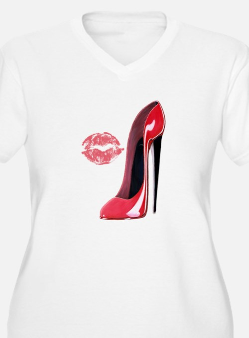 Red Stiletto Shoe and Kiss T-Shirt