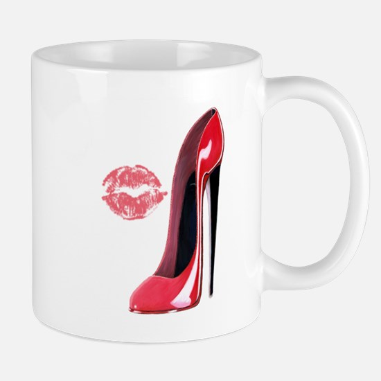 Red Stiletto Shoe and Kiss Mug