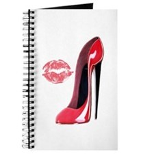 Red Stiletto Shoe and Kiss Journal