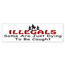 Antiimmigration Illegals Dyin Bumper Bumper Sticker