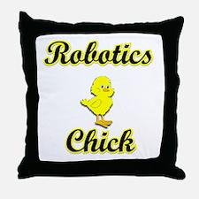 Robotics Chick Throw Pillow
