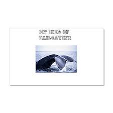 Cute Whale humpback Car Magnet 20 x 12