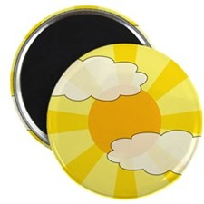 "Cloudy Yellow Rays 2.25"" Magnet (10 pack)"