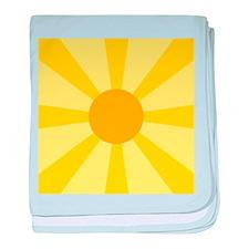 Yellow Rays baby blanket