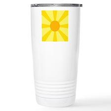Yellow Rays Thermos Mug