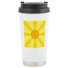 Yellow Rays Travel Mug