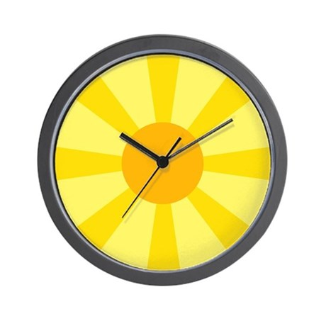 Yellow Rays Wall Clock