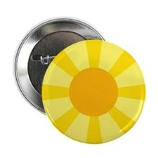 """Yellow Rays 2.25"""" Button"""