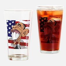 Barack Obama Cartoon Caricature Drinking Glass