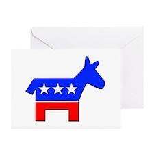 Democrat Donkey Logo Greeting Cards (Pk of 10)