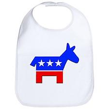 Democrat Donkey Logo Bib