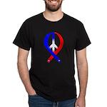 Peace Ribbon (Patriotic) Black T-Shirt