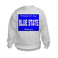 Blue State Values (Front) Sweatshirt