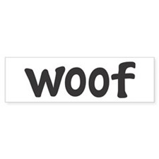 woof Bumper Car Sticker