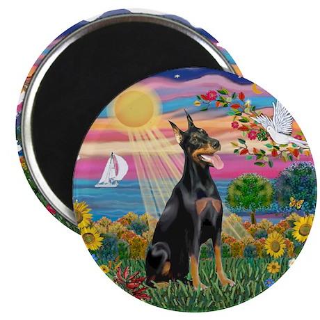 "AutumnSun-Doberman1 2.25"" Magnet (100 pack)"