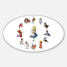All Around Alice Sticker (Oval)