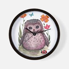 Purple Portly Owlet Wall Clock