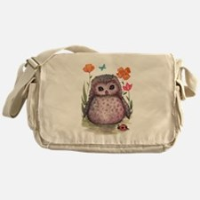 Purple Portly Owlet Messenger Bag