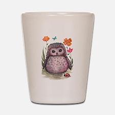 Purple Portly Owlet Shot Glass